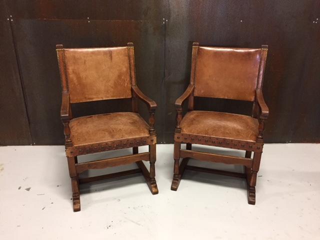 Vintage lederen stoelen over de datum for Lederen stoelen